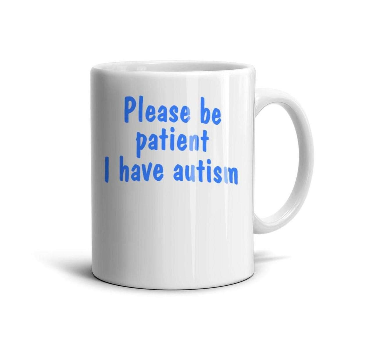 devrrssx Blue Please be Patient I Have Autism hat Cool Mugs Great Gift 1 Set for Office and Home for dadMaximum Capacity 13.5oz