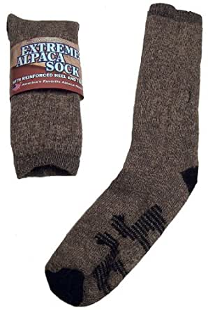 Extreme Alpaca Crew Sock Sz SMALL! (Fit Men's Shoe 4-7, Ladies' 5-8 or Child 9-13)