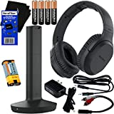 Sony Wireless Over-Ear Noise Reduction Headphones (WHRF400R) with Transmitter Dock (TMRRF400) + Sony Rechargeable Battery + 4 AAA Batteries + Connecting Cables + AC Adaptor + HeroFiber Cleaning Cloth