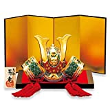 Japanese Ceramic kutani ware. display helmet for Boys' Festival Kabuto. Rising Dragon.'' Japanese ceramic Hagiyakiya 3055