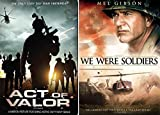 Act of Valor & We Were Soldiers DVD War 2 Pack Military Movie Action Set