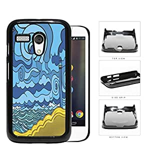 Psychedelic Aqua Seashore Lighthouse Hard Plastic Snap On Cell Phone Case Motorola Moto G