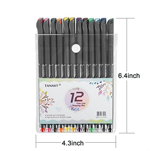 Bullet Journal Planer Pens Fine Tip Drawing Pens Porous Fine Point Makers Fineliner Pen for Coloring Books Writing Noting Calendar School Art Projects (18 Color) by TANMIT (Image #5)