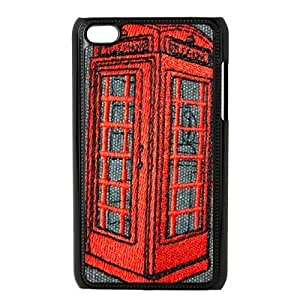 SpecialCasedesign Personalized Red Vintage London British Telephone Booth Ipod Touch 4 Case Best Durable Back Cover