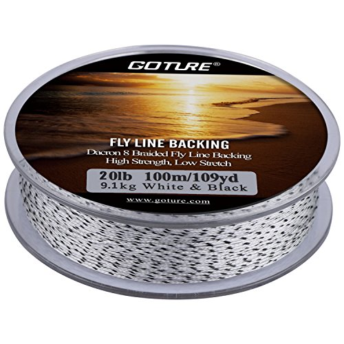 Goture Dacron Fly Fishing Line Backing for Trout Bass Pike in the Saltwater Freshwater 20lb 109yd (20lb
