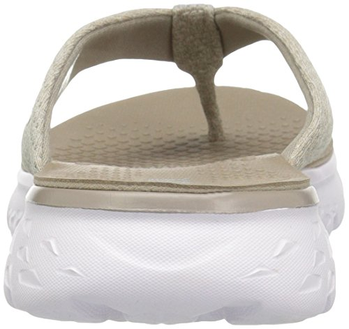 Women's The Skechers 400 On White Flip Go Vivacity Performance Flop Taupe 5UqqwR