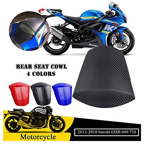 FATExpress Rear Seat Cowl for 2011-2018 Suzuki GSXR GSX-R 600 750 Motorcycle Carbon Pattern Rear Passenger Pillion Solo Motor Fairing Tail Cover 2012 2013 2014 2015 2016 2017 11-18 (Matte Black)