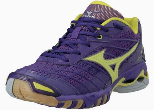 Mizuno, Chaussures De Volleyball Pour Homme Viola Lila / Gelb