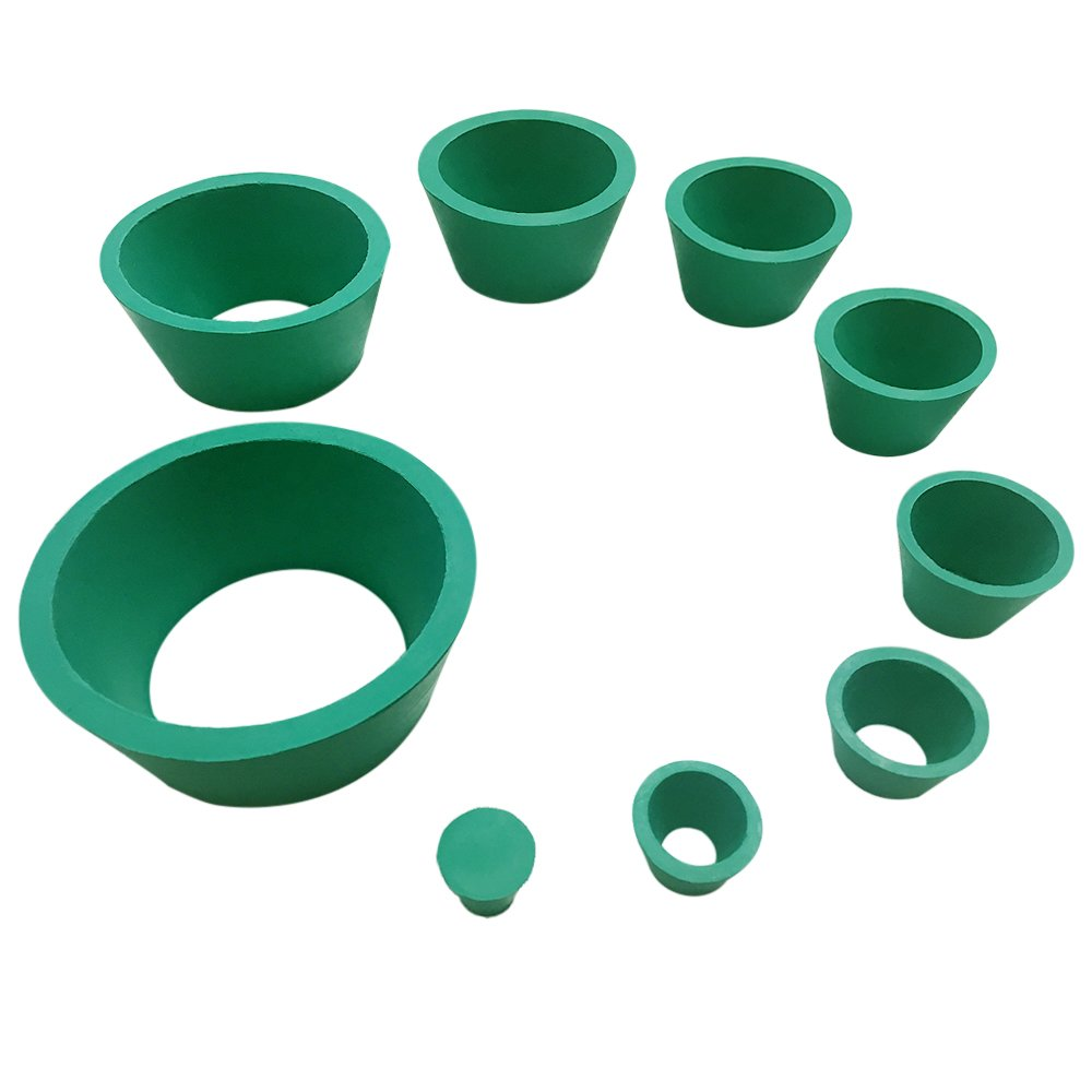 Feiyang Buchner Funnel Flask Adapter Set,Tapered Collar Green 8 sizes