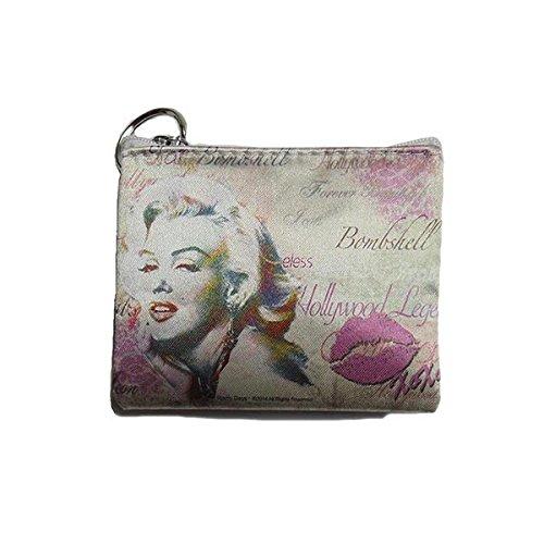 Marilyn Monroe Top Zip Shoulder Bag (Marilyn Monroe Coin Purse (Pink XoXo))
