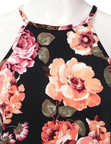 Doublju Licol Carré Du Cou Les Femmes Robe De Swing De Cou Taille Plus Awdsd0758_flowercoral