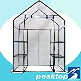 Cheap Peaktop® 19″x27″x62″/71″x36″x36″/56″x29″x77″/78″x56″x30″ High Quality Mini Portable Shelves Greenhouse Green Grow Garden plant Hot House (56″x29″x77″, White)