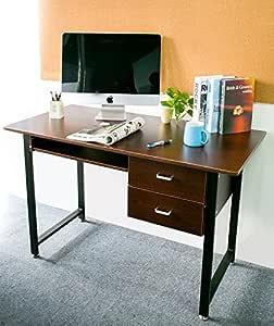 Merax Modern Wood Workstation Desk, Brown