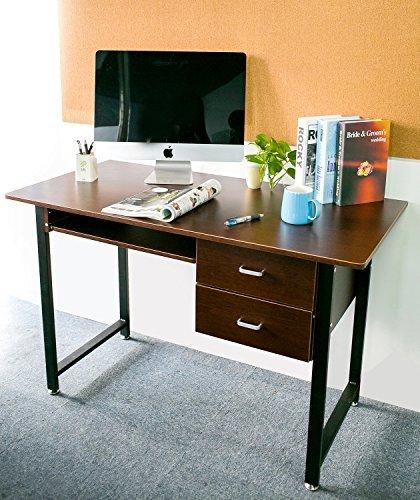 Merax Modern Wood Worksation Brown product image