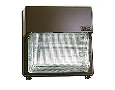 Hubbell Outdoor PGM3250S18BZL Wallpack, Glass Refractor, 250W Hips, Quad-Tap, Bronze with Lamp