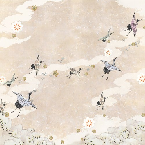 Simplicity Wedding Invitation - Dove of the East 25-Sheet Hanami Dream Paper for Scrapbooking, Japan Journey, 12 by 12-Inch