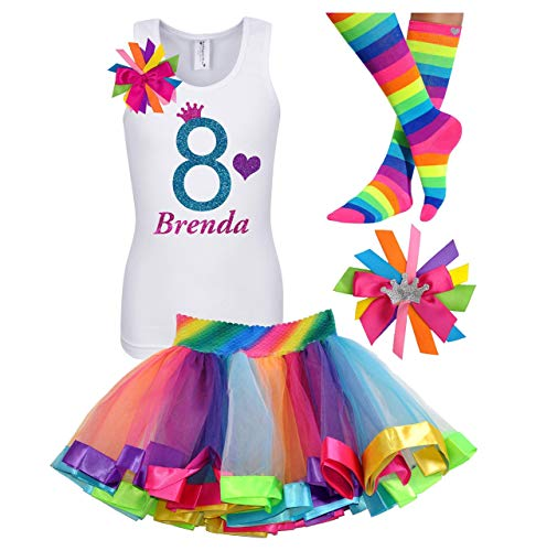Princess Bubblegum Outfits - 8th Birthday Shirt Rainbow Princess Tutu