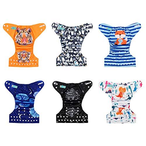 Alva Baby New Design Reuseable Washable Pocket Cloth Diaper 6 Nappies + 12 Inserts 6DM23 by ALVA (Image #3)