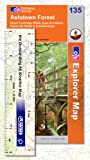 Front cover for the book Explorer Map 135: Ashdown Forest by Ordnance Survey