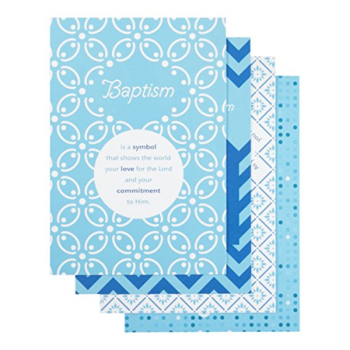 Baptism - Inspirational Boxed Cards - Blue Patterns