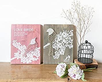 YI Decorations Manuelle Künste Kreative Retro Holz Malerei  Hochzeitsgeschenk American Schlafzimmer Restaurant