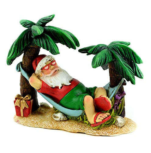 Touch of Nature Beach Christmas Santa Sitting in a Hammock 4inch