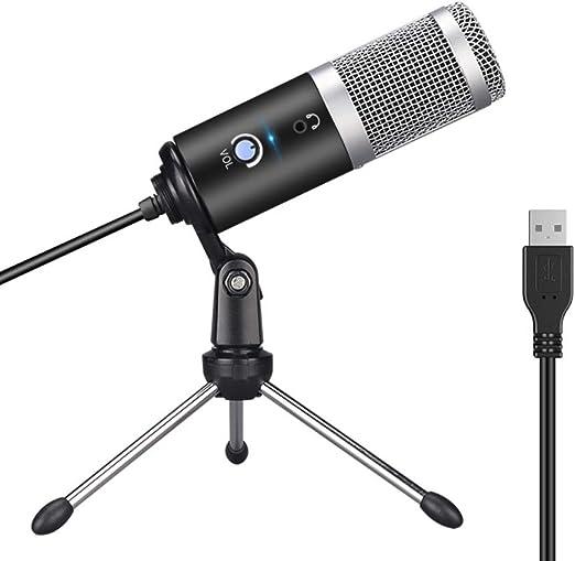 WANGOFUN Transmisión USB Podcast PC Micrófono Estudio Profesional ...