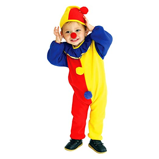 Captivating JP] Baby U0026 Children Trick Treat Halloween Party Pierrot Clown Costume Cap  Included