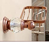 HCP Crystal gold soap rack box Hardware pendant European-style bathroom soap dish-E