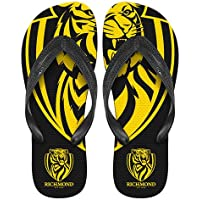 Richmond Tigers AFL Thongs Plugger Flip Flops