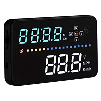 FISHTEC ® HUD Coche - Proyector de Datos (Velocidad/Altitude/Hora ...