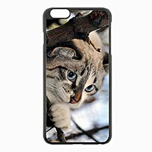 iPhone 6 Plus Black Hardshell Case 5.5inch - eyes nose feet branch snow Desin Images Protector Back Cover