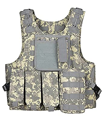ThreeH Outdoor Tactical Vest Field Army Suit Paintball Gaming Gilet Protective Equipment for Hunting Police