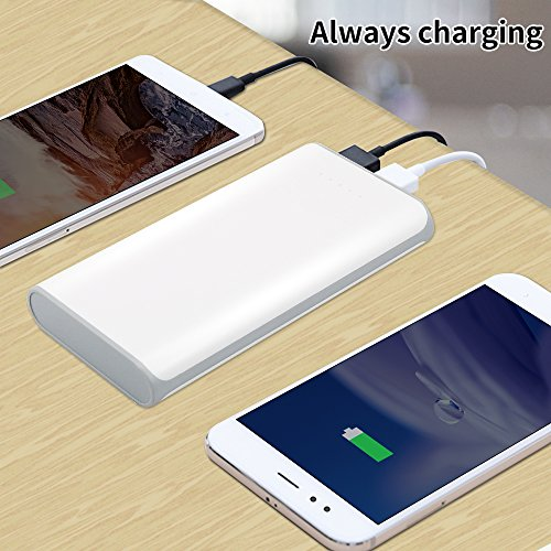 SOLICE® 20000mAh Dual USB Output Portable Charger External Cell Phone Battery Pack Power Bank with LED light for iPhone, iPad & Samsung Galaxy & More (Gray) by SOLICE® (Image #3)