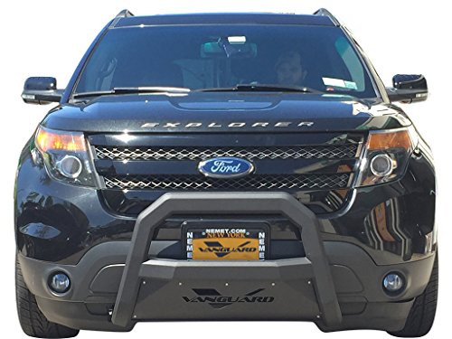VANGUARD Off Road VGUBG-1763-0952BK For Ford Explorer 2011-2017 Bumper Guard Black Optimus Series Bull Bar with Skid Plate