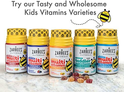 Zarbee's Naturals Complete Toddler Multivitamin With Our total b Complex Gummies, Natural Fruit Flavors, for Children Ages 2-4, 110 Gummies (1 Bottle) With Essential Vitamins