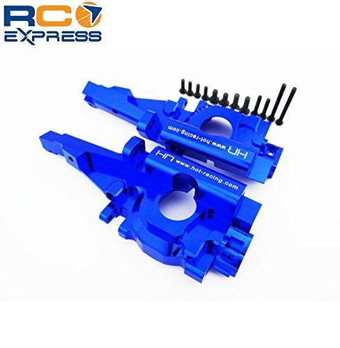 Hot Racing RVO1306 Secure Lock Rear Bulkhead 1/10 Blue (Anodized Aluminum Rear Bulkhead)