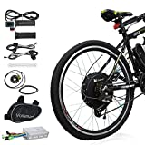 Voilamart 26'' Rear Wheel E-bike Hub 48V 1000W Electric Bicycle Conversion Kit Cycling Brushless Hub Motor w/ Intelligent Dual Mode Controller Restricted to 750W Secret Wire for Road Bike