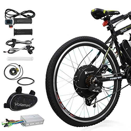 Voilamart 26'' Rear Wheel E-bike Hub 48V 1000W Electric Bicycle Conversion Kit Cycling Brushless Hub Motor w/ Intelligent Dual Mode Controller Restricted to 750W Secret Wire for Road Bike by Voilamart (Image #8)