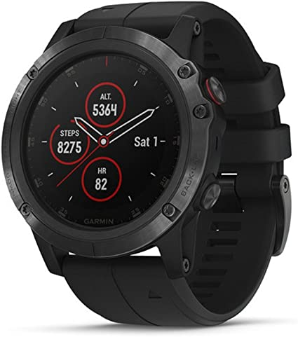 Garmin fēnix 5X Plus, Ultimate Multisport GPS Smartwatch, Features Color Topo Maps and Pulse Ox, Heart Rate Monitoring, Music and Pay, Black with ...