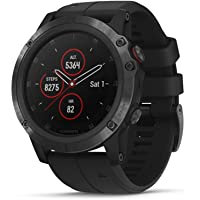 Garmin fēnix 5X Plus, Ultimate Multisport GPS Smartwatch, Features Color TOPO Maps and Pulse Ox, Heart Rate Monitoring, Music and Garmin Pay, Black
