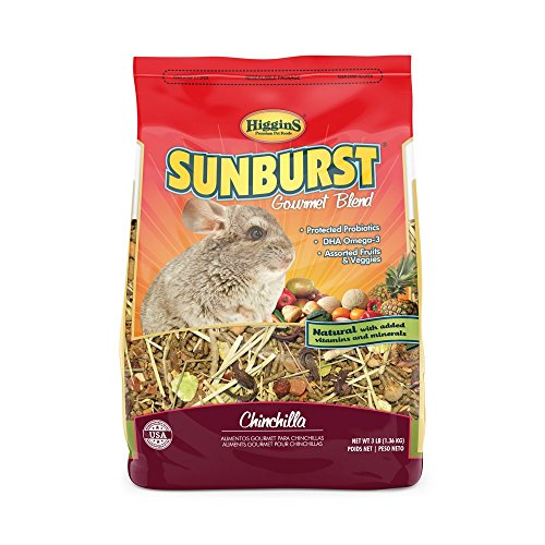Higgins 466034 Sunburst Gourmet Chinchilla Food Mix 3 lb (1 Pack), One Size