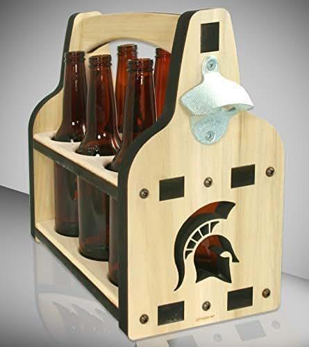 Amazon Com Beer Caddy Spartan Inspired Wooden Beer