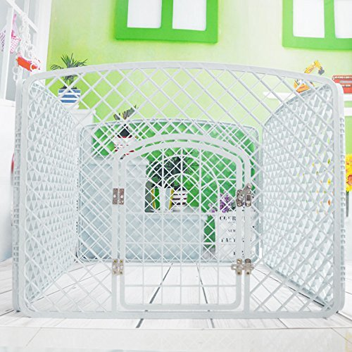 Paw Essentials Dog Pen/Pet Pen Playpen with Door for Small to Medium size dogs - 40 x 40 x 30in (Plastic Exercise Pens)