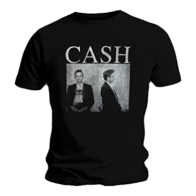 b0db114ad63 Johnny Cash Official T Shirt Man in Black  Mug Shot  Photo  Amazon ...