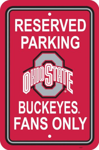 NCAA Ohio State Buckeyes 12-by-18 inch Plastic Parking Sign