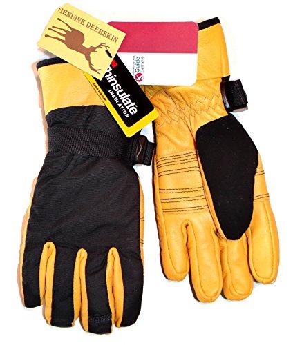 Gander Mountain Thinsulate Guide Series Genuine Deer Skin Leather Gloves