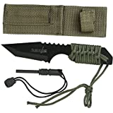 """Miscellaneous Survivor HK-106320 Outdoor Fixed Blade Knife 7"""" Overall, Colors May Vary"""