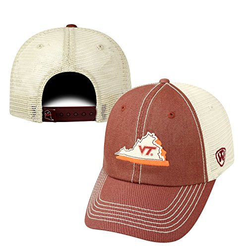 NCAA Virginia Tech Hokies Adult United Adjustable Hat,One Size,Maroon/Tan ()