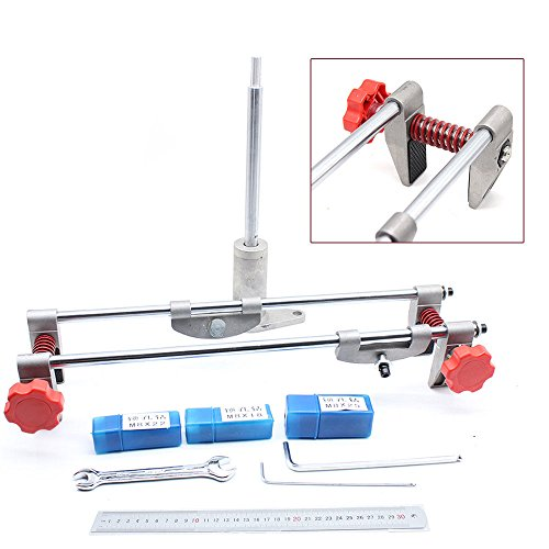 Moon Daughter 8PCS Mortice Door Fitting Jig Lock Mortiser Key JIG With 3 Cutters /& Ruler w//Case
